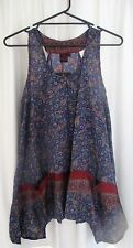 LADIES GORGEOUS PAISLEY PRINT SLEEVELESS TOP by ALLER SIMPLEMENT size L/XL