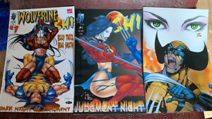 3 ISSUES Wolverine Shi #1 Dark Night of Judgment And Judgement Night Marvel 2000