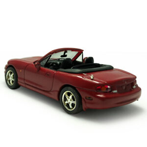 1:43 Scale Mazda MX-5 Convertible Model Car Diecast Collectible Vehicle Gift Red