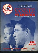 Yankees 1964 Official Yearbook FINAL Edition Mickey Mantle Maris Yogi Berra