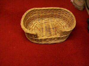 22 INCH/WOVEN WICKER/CAT OR SMALL DOG BASKET