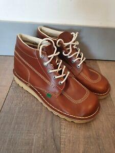 KICKERS Kick Hi Leather Lace Up Boots Size EU45