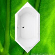 Badewanne 6-Eck 200x100 cm incl. Füße Wanne 100x200 cm 6 Eckwanne