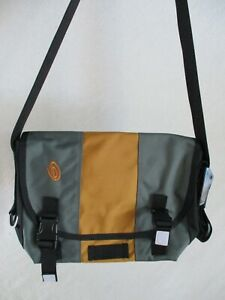 Timbuk2 authentic small gray orange ballistic nylon messenger bag new