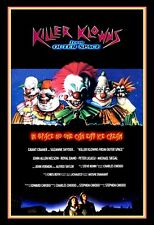 KILLER KLOWNS CLOWNS FROM OUTER SPACE SCI FI COMEDY FILM POSTER A3 RE PRINT