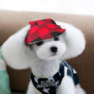 Dog Sun Hat Summer Baseball Cap Small Pet Puppy Cat Visor Outdoor Accessory S-L