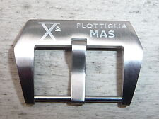 Edle Schließe Buckle 24mm X° FLOTTIGLIA MAS f. Staps v Panerai Steinhart usw.