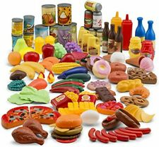 122-Piece Deluxe Pretend Play Food Set Beautiful Toy Food Assortment