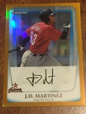 J.D. MARTINEZ 2011 Bowman Chrome Prospect Gold Refractor #22/50 REDSOX ASTROS