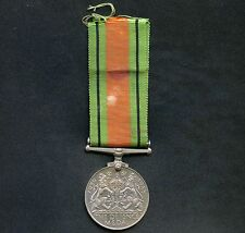"""Canada WW2  """" The Defence """" Medal With Ribbon"""