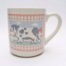Himark Peaches N Creame Cow Heart Print Coffee Mug Cearmic Vtg & Rare Creme