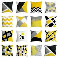 """Ochre Mustard Yellow Grey Cushion Cover Collection 18"""" 45cm Covers Pillowcase"""
