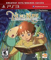 Ni No Kuni: Wrath of the White Witch [PlayStation 3 PS3, Studio Ghibli JRPG] NEW