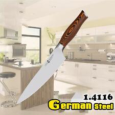 """Fiery Phoenix 8"""" Chef Knife Gyuto German Steel 1.4116 Pakkawood Handle Chopping"""