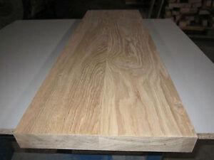 Eichenplatte (€59,95/m) Wildeiche Massivholzplatte 40x300x1000mm Treppenstufe