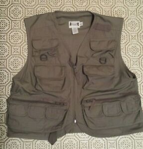 HERTER'S Fishing/ Hunting Vest Grey Gray Size: S/Regular Lightweight