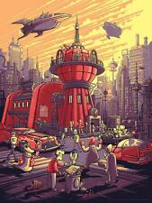 SDCC 2017 Futurama Our Crew is Replaceable Dan Mumford Poster Print #/250 SIGNED