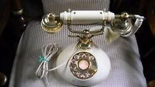 Ivory and Gold Vintage Antique Rotary French Style Cradle Phone