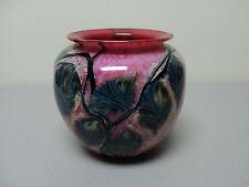 "GORGEOUS ORIG. DAVID LOTTON ART GLASS VASE, ""LEAF & VINE"" PATTERN, DATED 1991"