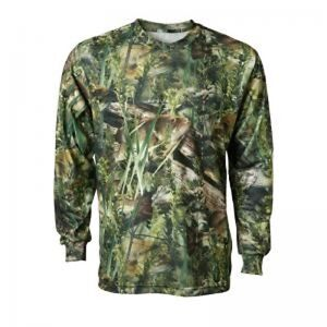 Fishouflage Bass Fishing Long Sleeve Men's Performance T-Shirt, Camouflage