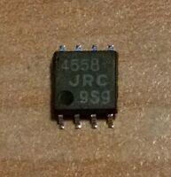 2 CIRCUITS INTEGRES - DOUBLE AMPLIFICATEUR OPERATIONNEL - NJM4558 - CMS SO8- JRC