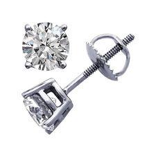 Ohrstecker Diamanten 1,50 Karat Platin VS Top Wesselton feines Weiß Brillanten