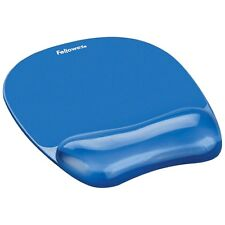 FELLOWES 91141 CRYSTALS GEL MOUSEPAD and WRIST REST - Blue