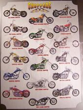 Jigsaw puzzle Motorcycle Choppers Montage 1000 piece NEW made in the USA