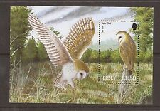 Jersey 2001 Birds of prey  m/s MNH