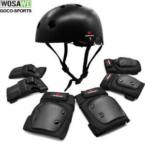 Helmet Elbow/Knee/Wrist Pads Skateboard Motorbike BMX Protective Gear Shin Guard