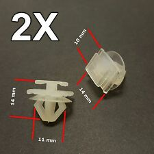2X Peugeot 206, 307 Plastic Trim Clips- for Bumpers, Door Side Mouldings 6995X3
