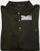 NEW $125 Polo Ralph Lauren Long Sleeve Green Shirt Mens Big NWT Cotton Heather