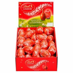 Lindt Lindor Milk Chocolate Eggs 28g 10/15/24/48 Easter Gift Mum Dad Clearance