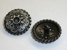 6 pièce de métal Boutons Bouton ösenknopf 25 mm Altsilber article neuf inoxydable #956.2#