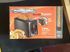 Proctor Silex 22612 2-Slice Toaster Black Original Kitchen Compact Stylish New