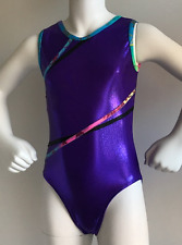 "Gymnastic Dance Leotard ""Jasmine"" Purple Mystique ~ Girls Sizes 3-14 Aussie Made"