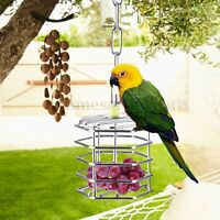 Stainless Steel Pet Bird Foraging Cage Parrot Pigeon Entertainment Hanging