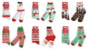 CHRISTMAS LADIES SOCKS NOVELTY STOCKING SANTA SNOWMAN ELF XMAS GIFT IDEA