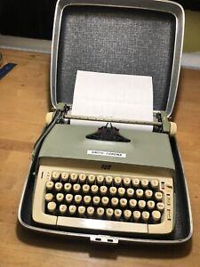 Smith Corona SCM Galaxie Vintage Typewriter Hard Case Working Clean Keys