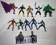 """Lot (12) 2005 Marvel Heroes 2.25"""" Mini Poseable Action Figures Tomy Bobbleheads"""