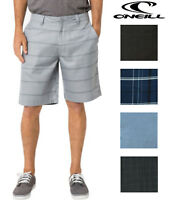 Oneill Mens Plaid Flat Front Chino Shorts