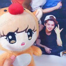 """Kpop EXO Luhan Reindeer Bear 10""""  Plush Toy Stuffed Doll Handmade Fans Gift"""