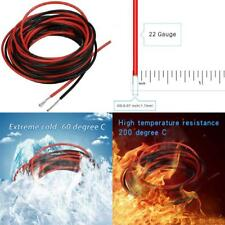 Bntechgo 22 Gauge Silicone wire 10 ft red and 10 black Flexible 22 Awg.