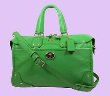 COACH 33689 RHYDER Green Leather Satchel Shoulder Bag Msrp $495 * New with Tag *