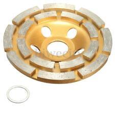 "4"" 2 Row Diamond Segment Grinding Cup Wheel Disc Grinder Concrete Granite Stone"
