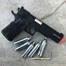 CO2 Airsoft Pistol Gun with free 5 CO2 Cartridges  & 2000 BBs Colt 1911