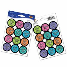 Alice in Wonderland EAT ME DRINK ME STICKERS (24 COUNT) Mad Hatter Tea Party