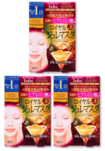KOSE Clear Turn Premium Royal Jelly & Hyaluronic Acid Face Mask 3 lot