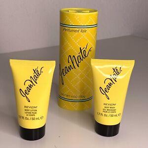 Jean Nate Lot Perfumed Talc 4 oz Body Lotion 1.7 oz Body Wash 1.7 oz New Sealed