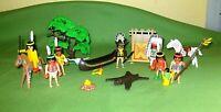Playmobil Spielset Konvolut Zubehör Indianer Indianersippe Häuptling Pferde